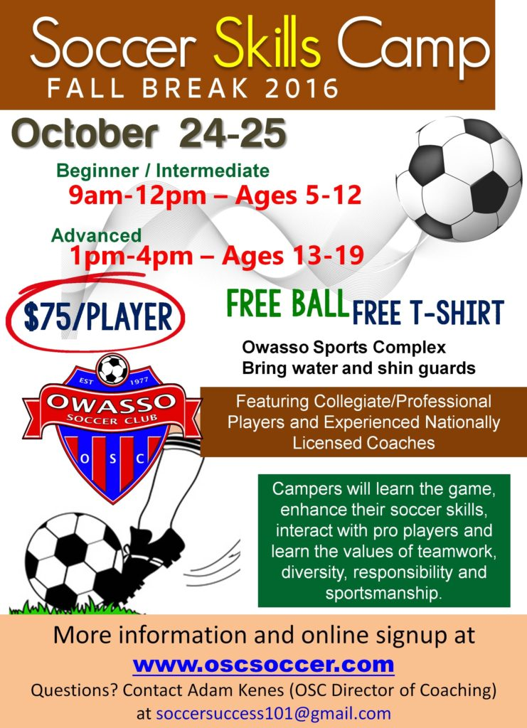 Fall Break skills camp 2016